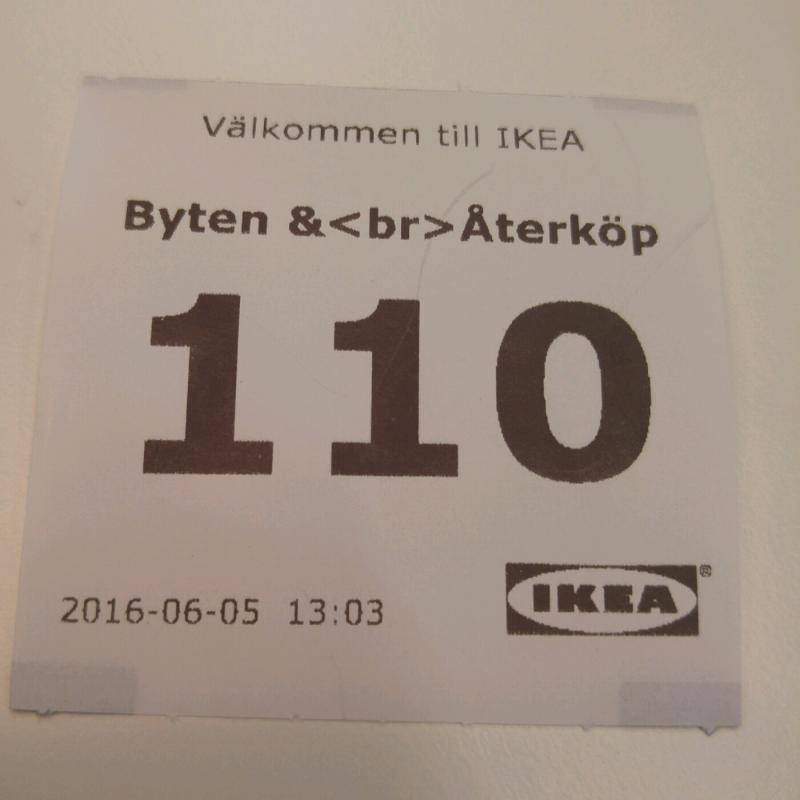 ikea hoped for a line break